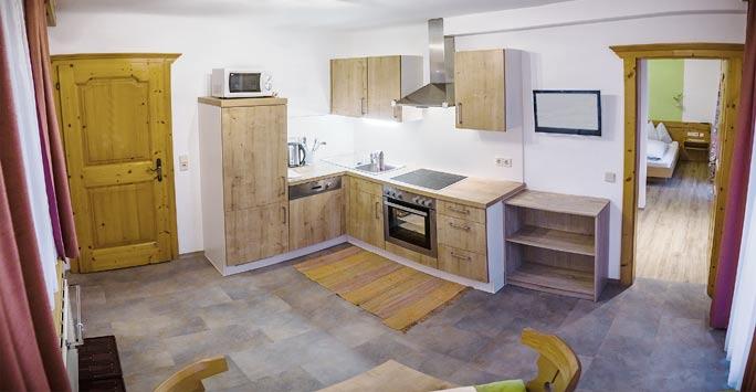 Ferienwohnung 01 Wohnküche